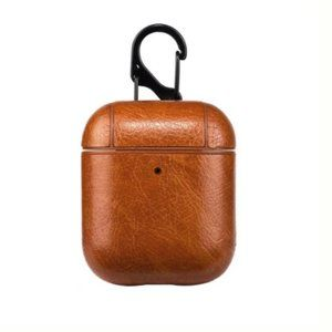 Vegan Leather AirPods Case - Light Brown